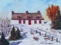 Maison de ferme en hiver
