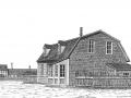 Maison à toiture mansard