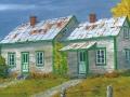 Maison de ferme en automne