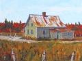 Maison de ferme à l'automne